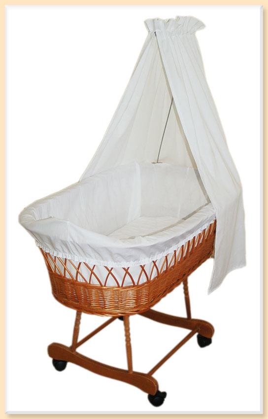 umrandung nestchen wei f r stubenwagen aus baumwolle ebay. Black Bedroom Furniture Sets. Home Design Ideas
