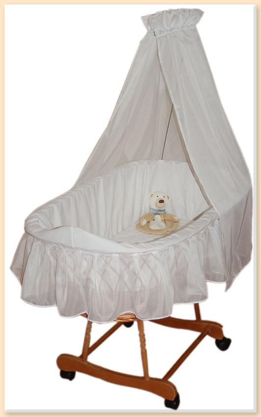 himmel f r stubenwagen wiege wei baldachin betthimmel ebay. Black Bedroom Furniture Sets. Home Design Ideas