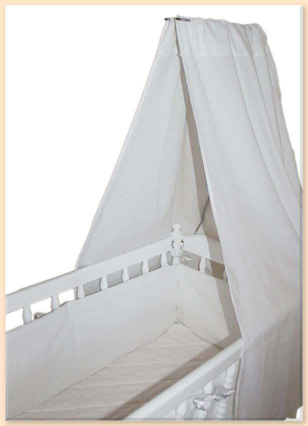 neu himmel f r stubenwagen oder wiege in wei baumwolle ebay. Black Bedroom Furniture Sets. Home Design Ideas