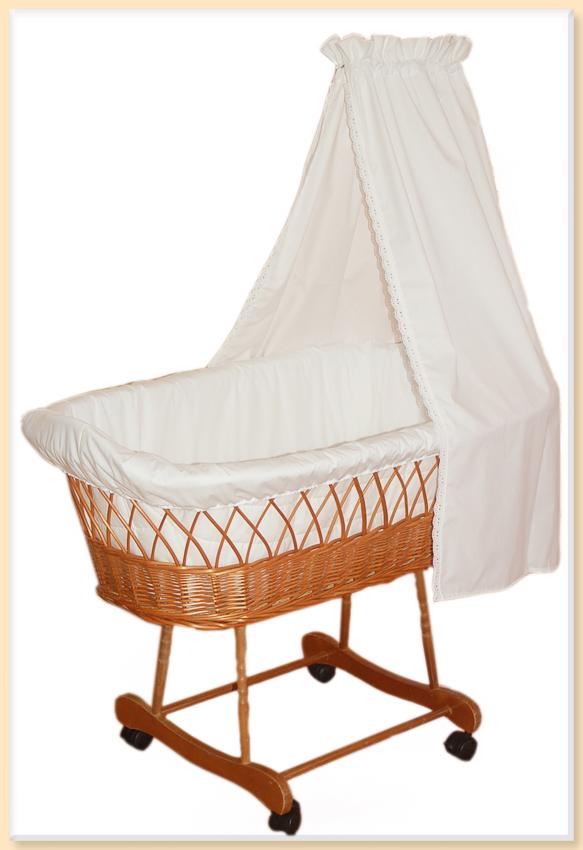 himmel betthimmel baldachin f r stubenwagen aus baumwolle wei bw mit spitze ebay. Black Bedroom Furniture Sets. Home Design Ideas